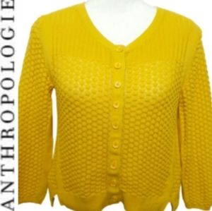 Anthropologie  Sparrow Yellow Cropped CardIgan